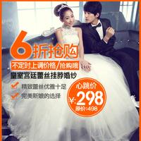 Royal royal flower lace halter-neck princess bride wedding dress formal dress 2012 new arrival 078