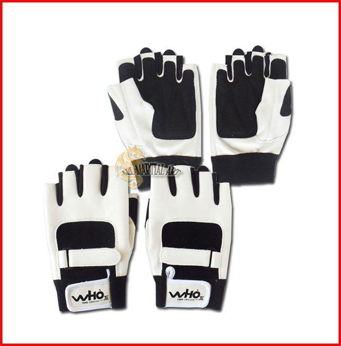 Free Shipping Pair of Sport Gloves Gym Fitness Weight Lifiting Gloves Anti-Skidding Hand Protector PU Leather Size Free ESGL011(China (Mainland))