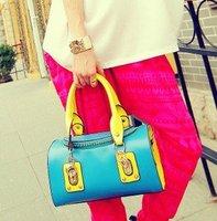 New European style drum package handbag Messenger pu bags