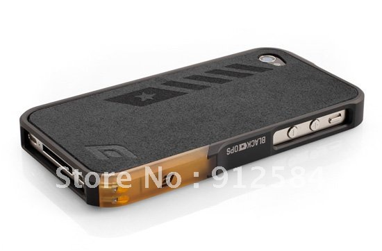 NEW store promotion case black ops for iphone4 4g 4s , metal vapor case for iphone 4 4gs 4s , DHL/EMS free shipping 30pcs(China (Mainland))