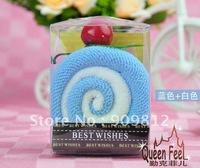 Free Shipping Swiss roll cake towel, Packed switzerland volume gift towel, Wedding return gift, 90g 100pcs/lot
