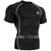 2012 polyester wholesale/retail shirts FIXGEAR Compression skin tight short sleeve tops training base layer CPD-BS