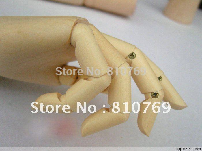 2012 nuove forniture 100% nuovo moda giocattolo di legno delle articolazioni mobile spedizione gratuita a mano in legno `s del capretto educativo 18cm buon prezzo