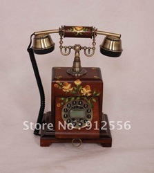 telephone manufacturer hot sell solid wood retro telephone(China (Mainland))