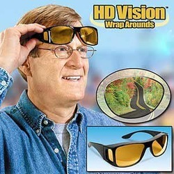 HD Vision Wrap Around Sunglasses [Fits Over Your Prescription Glasses] Driving Glasses #1745(China (Mainland))
