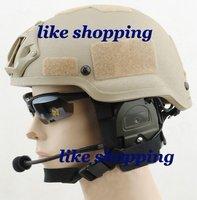 Tactical Helmet with SOPMOD NVG Mount(khaki) free ship