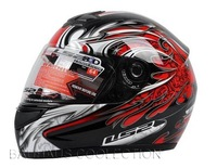 LS2 helmet Promotion Black Red Dual Visor Full Face DOT Approved Motorcycle Helmet Bike