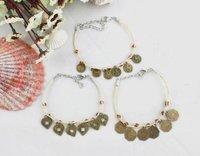 FREE POSTAGE 12PCS Mixed Antiqued bronze Charms Raffia Bracelets #21662