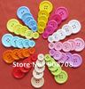 Free shipping H0146 plastic buttons 180pcs mixed color 15mm 20mm 23mm 25mm 30mm sewing  button