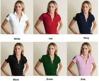 Brand New Summer Women Fashion Lady Short Sleeve Shirt brand shirts cotton 100% 7 Color Top quality Free shipping