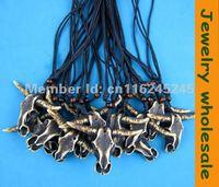 12 pcs Brown Imitation Yak bone carved  Bull head skull pendant necklace jewelry wholesale G-128
