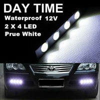 1 Pair 4LED 4W 112mm*15mm*18mm White Tiny Daytime Running Light Eagle Eye Driving DRL Fog Lamp 12V Free Shipping