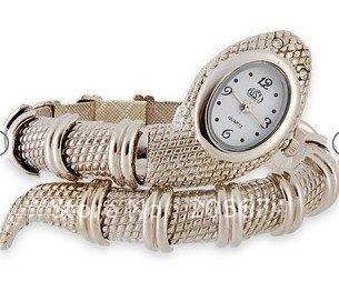 Snake Shaped Bracelet Watch (Silver) women's watch.free shipping