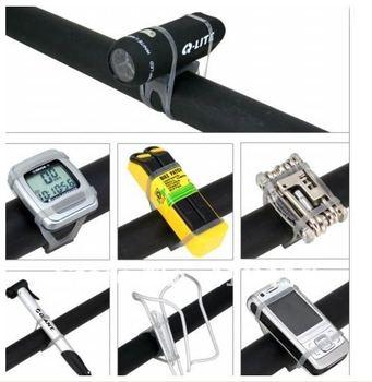 B Bicycle Silicone Strap Holder Bandages / Bicycle Silicone tie strap Bandages /Free Shipping ,20pcs.lot