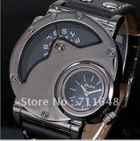 Dual Time Circular & Analog Mens Quartz Watch Unusual