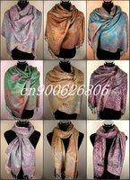 Free Shipping! 12 PCS Gorgeous Pashmina Jacquard Scarf Shawl