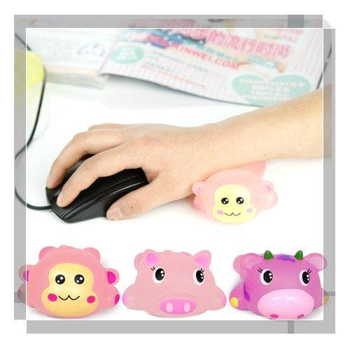2012 summer new Creative lovely cartoon wrist pillow pvc wrist holder Jelly wrist pad,Wholesale and retail!(China (Mainland))