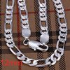 925 Sliver Necklace Fashion Jewelry Wholesale Silver Jewelry 602 P312-24 inches 12mm Figaro Chain