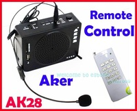 Free shipping!!Brand AKER AK28 16W Waistband Portable PA Voice Amplifier Booster Remote Control