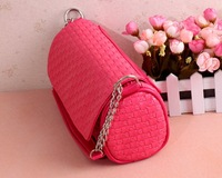 Special Offer!2012 Summer new Woven weaves chain bag /Candy color handbag/ 5 colors women shouder bag 2 use Free Shipping 1pcs