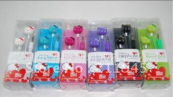 Lot 10pcs Hello Kitty Earphone Headphone Headsets for Ipod Mp3 Mp4