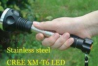 1200 Lumens CREE Q5 C8 LED Flashlight Torch(Portable Charger+2 pc 3200mAh Battery) JNC-FLC8L,Free Shipping!