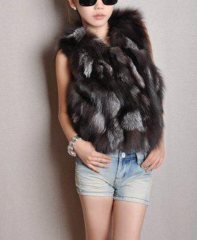 Low Low Low!!! TF35 to EMS Lady Модный Genuine Fox Мех Жилет/Талияcoat Стиль est ...