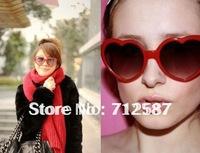Wholesale Heart Shaped Lolita Sunglasses Glasses Lady(1 lot=5 colors= 5 pcs)~ Free Shipping#8529