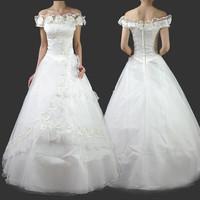 2012 fashion wedding dress classic royal plus size red 1089