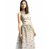Женское платье Top grade quality, high-classic fashion women cat dress, day printed silk dresses, orange dresses women