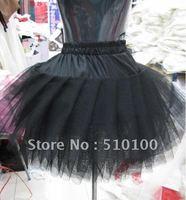 wholesale 5pcs Layers black Bridesmaid Wedding Dress Short Petticoat Underskirt TUTU Skirt drape crinoline 3 gauze hot selling