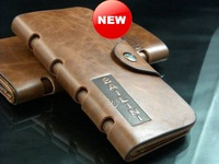Hot Selling!Men Genuine Leather Wallet.Fashion Cowhide Wallet Purse!Free Shipping#C526-67