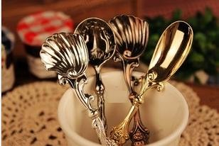 Classics Revisited  18 kinds of style Vintage carved coffee spoon,Ice cream spoon . Free shipping