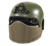 SWS Helmet Mounted Face Protector Half Face Nylon Mask Tan free ship