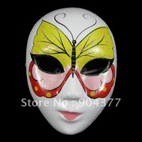 Free shipping  High quality Butterfly Masquerade Mask Women Paper Mache Full Face Decorating 10pcs/lot mix styles