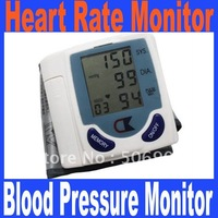 Promotion!!! Automatic Digital Wrist Blood Pressure Monitor & Heart Beat Meter Sphygmomanometer Prevent Hypertension