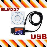 Car diagnostic usb code reader & scanner tool EML 327 Interface OBD/OBDII Protocols Auto scan universal