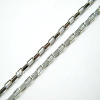 316L stainless steel silver short box chain necklace fashion byzantine chain jewelry necklace pendant XL136