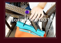 Free Shipping bag hook Round foldable Bag Hanger/Purse Hook/Handbag Holder with Acrylic Mix Fashion+a bag