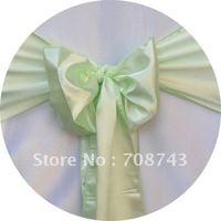 Free shipping /apple green  satin chair cover sash /satin sash