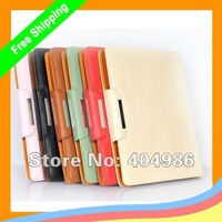 MOQ 1pc KALAIDENG Fashion Pu + Fabric wallet case for new ipad /ipad2 /3+  Free shipping