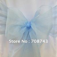 Free shipping /baby blue organza sash for wedding
