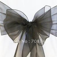 Free shipping /black organza sash for wedding