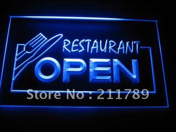 B0053-G OPEN Restaurant Display Bar Pub Neon Light Signs