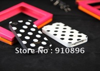 Dot Hard Skin Case Cover for Apple iPhone 4G / 4S New, 10 pec / lot +Free shipping
