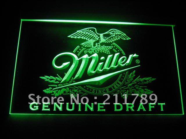 B065-R Miller beer Draft Bar Pub Club Neon Light Signs(China (Mainland))