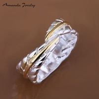 S-R020 Free shipping,wholesale leaf 925 silver ring,high quality ,fashion jewelry, Nickle free,antiallergic,Factory price
