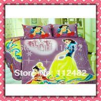 Cartoon Pink Cotton children 3pcs Bedding Set Snow White Kid Bedding Free Shipping
