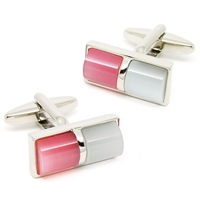 Romance Rectangle Red and White Agate  Cufflinks,Wholesale Prices