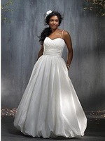 Spaghatti Strap  Wedding Dresses Bride Clothes Prom Gown Trailing Chiffon Custom Made Different Style Size:2_24
